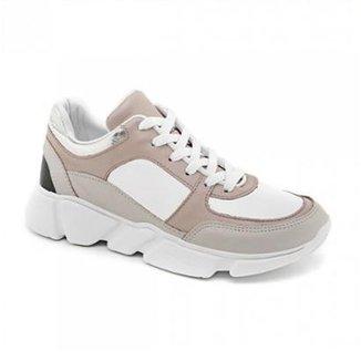 e4edc34f25f Tênis Couro Marina Mello Chunky Sneaker Feminino