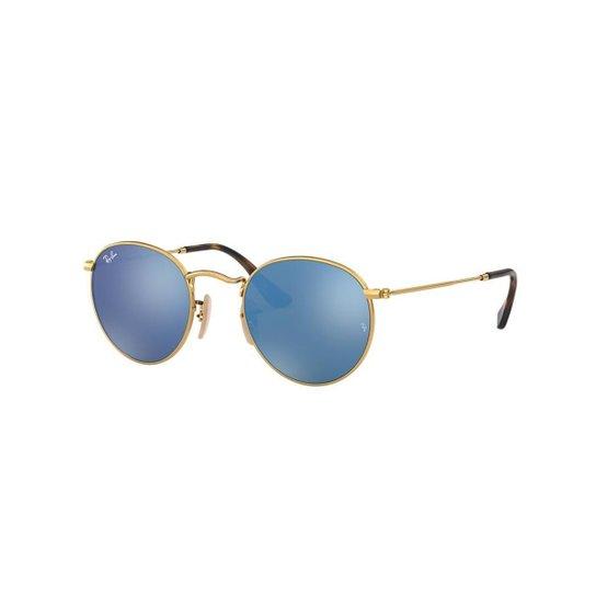 1d2dfa6c23e45 Óculos de Sol Ray-Ban RB3447N Round Metal - Dourado - Compre Agora ...