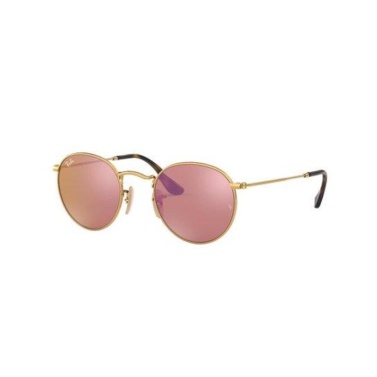 d6e2d84edf631 Óculos de Sol Ray-Ban RB3447N Round Metal - Compre Agora