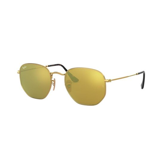 Óculos de Sol Ray-Ban RB3548N Hexagonal - Dourado - Compre Agora ... 3fdabdca6a15e