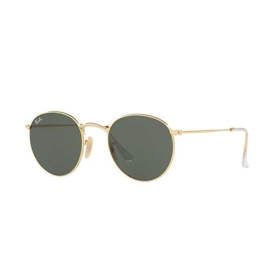 Óculos Ray-Ban Round - Dourado - Compre Agora   Zattini 708cb5d80e