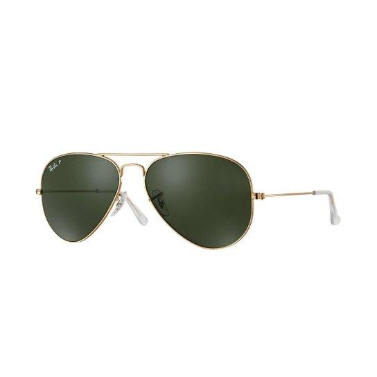 5759abc6e Óculos de Sol Ray-Ban Aviator Clássico - Dourado | Zattini
