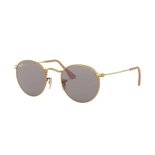Óculos de Sol Ray-Ban Round Feminino - Dourado - Compre Agora   Zattini 302c7038f2