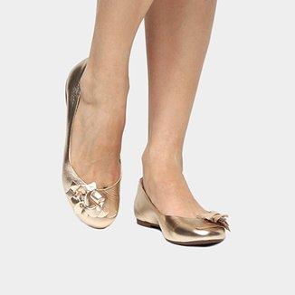 22b3e06f61 Sapatilha Couro Shoestock Flor Feminina