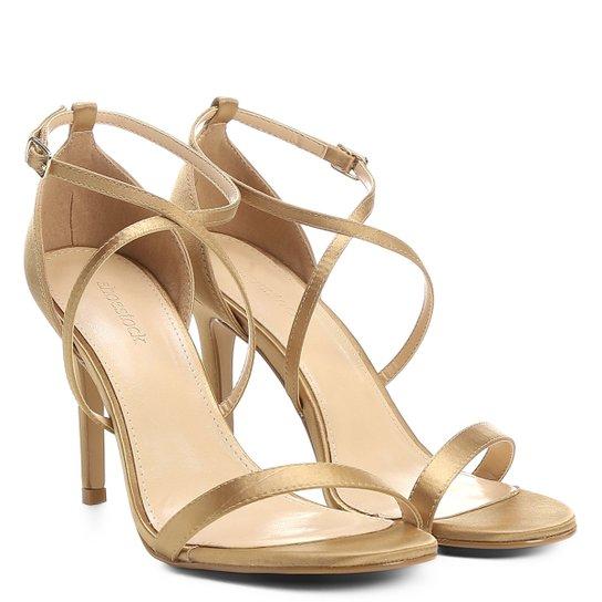 01242e4e1 Sandália Shoestock Salto Fino Festa - Dourado | Zattini
