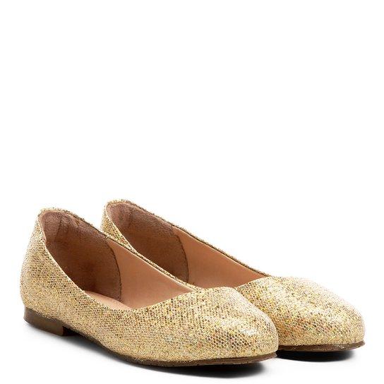 84133e3f03 Sapatilha Infantil Shoestock Glitter Menina - Dourado