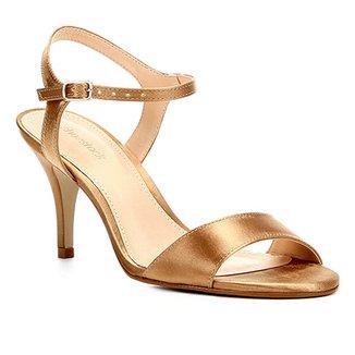 2b00835347 Sandália Shoestock Salto Fino Cetim Feminina