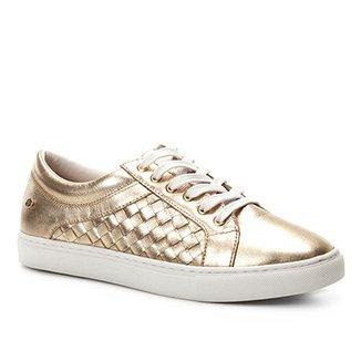 ad930eb62 Tênis Couro Shoestock Trançado Feminino