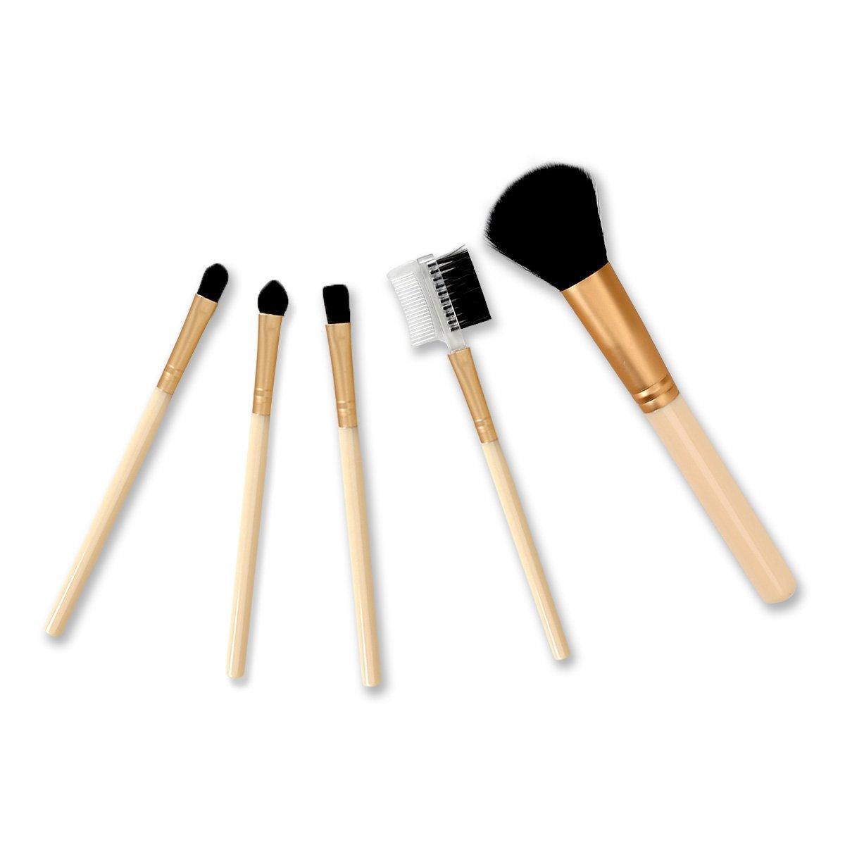 Kit de Pincéis para Maquiagem Dourados Drezzup