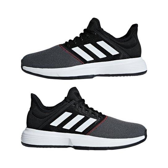 17e8e37e358 Tênis Adidas Gamecourt Masculino - Preto e Cinza - Compre Agora ...