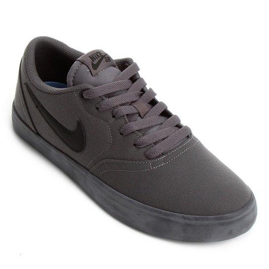 c8c9036d8 Tênis Nike Sb Check Solar Cnvs Masculino - Preto e Cinza - Compre ...