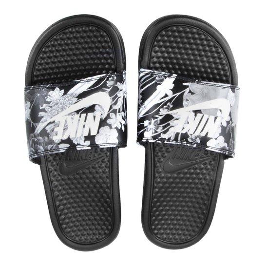602f76c48f1 Sandália Nike Benassi Jdi Print Feminina - Preto e Cinza - Compre ...