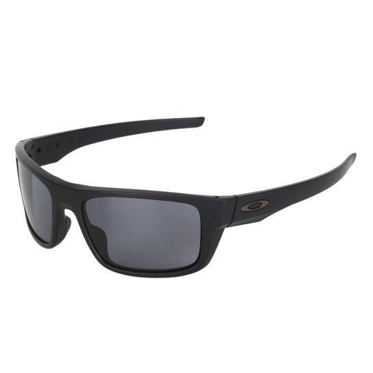 93b58b7be3106 Óculos de Sol Oakley Drop Point Masculino - Preto e Cinza - Compre ...
