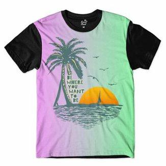 429317009434e Camiseta Long Beach Aloha Surfista Sublimada Masculina