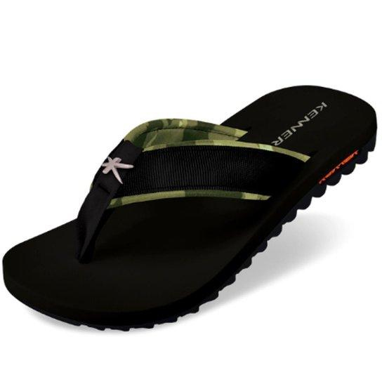 Chinelo Kenner Kivah Force Masculino - Preto e verde - Compre Agora ... abcb52dd1d4