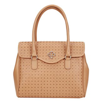 a36a96921 Bolsa Couro Capodarte Handbag Vazada Feminina