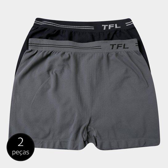 359fee571d7e7e Pack Cueca Boxer Trifil Sem Costura Microfibra 2 Peças Masculina - Preto e  Cinza