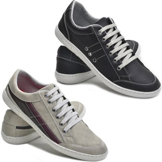 d295e461b4 Kit 2 Pares Sapatênis Dec Shoes Tênis Casual Masculino - Preto e ...