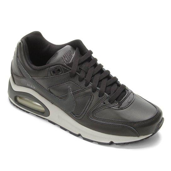 d266540aef2 Tênis Nike Air Max Command Leather Masculino - Preto e Cinza ...