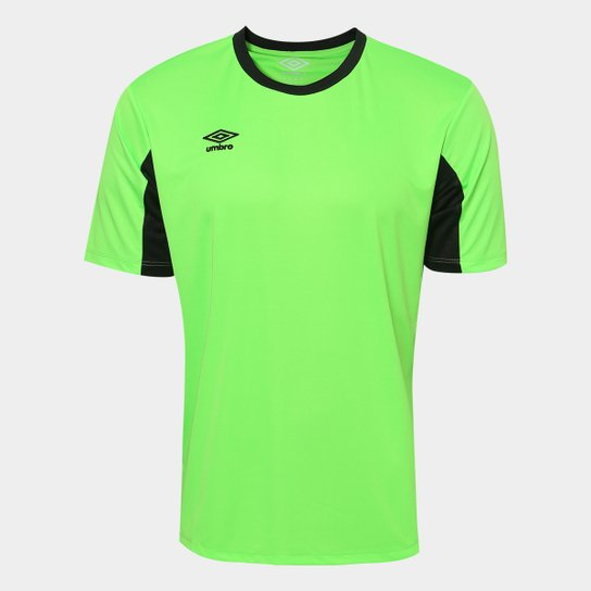 ab4f9e47ee Camisa Umbro Core - Verde Limão+Preto