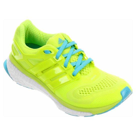 1bd74f1946 Tênis Adidas Energy Boost ESM Masculino - Verde Limão+Azul Turquesa
