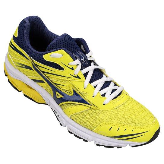 d5a54a64db Tênis Mizuno Wave Zest Masculino - Amarelo e Azul