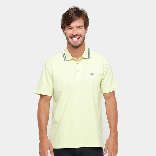 Camisa Polo Cavalera Básica Bordado Masculina - Amarelo e Preto ... c504b6be3d4c1