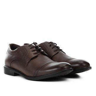 56f42ecca4 Sapato Casual Couro Ferracini Bolonha Recorte Bico Masculino