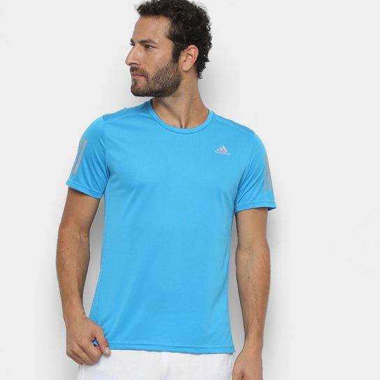5854828a2ea0e Camiseta Adidas Response Masculina - Azul Piscina - Compre Agora ...