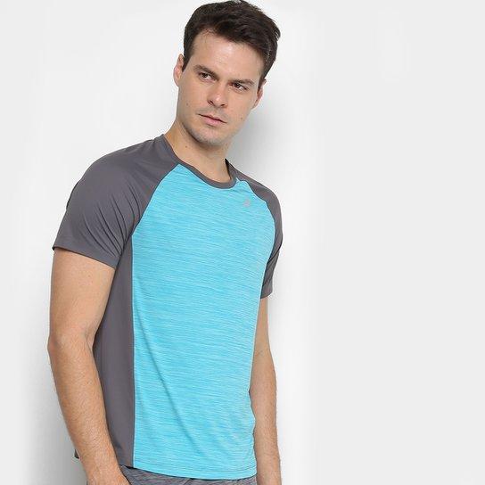 02682f93e65c1 Camiseta Asics Color Ss Masculina - Azul Piscina e Cinza - Compre ...