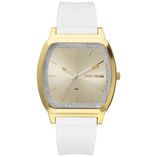 5b3f2cc7851e1 Relógio Mormaii Feminino Luau - MO2036EY 8A MO2036EY 8A - Dourado+Branco