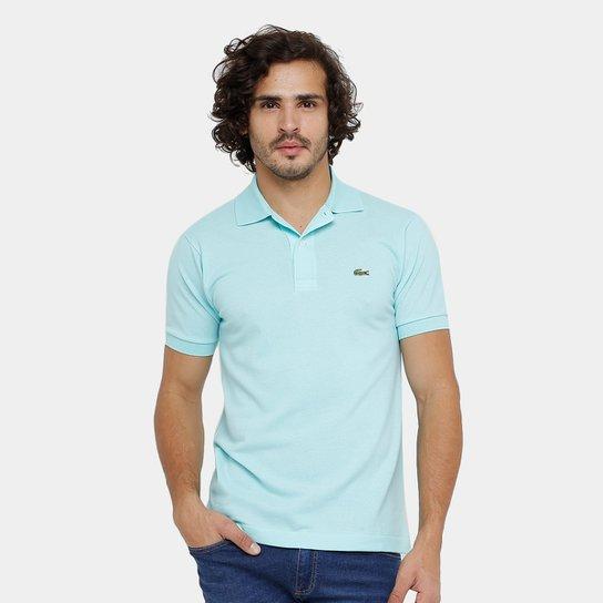 Camisa Polo Lacoste Piquet Original Fit Masculina - Azul Piscina ... 1b733c8915a79