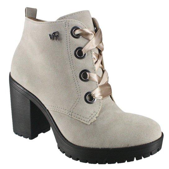 946c7393e3 Bota Via Marte Ankle Boot Feminina - Cinza Claro