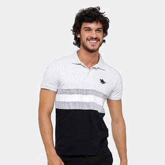 b6141d08e0f Camisa Polo RG 518 Piquet Listras Masculina