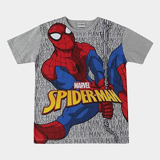 49c7622bc Camiseta Infantil Fakini Homem Aranha Masculina