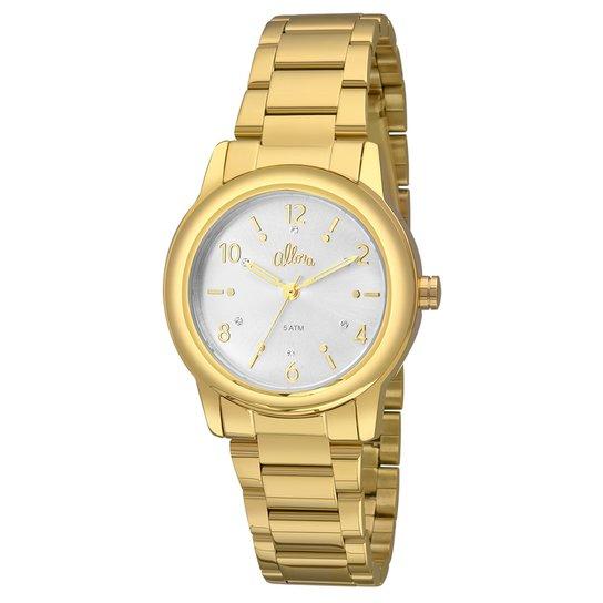 f9149287a6d Relógio Allora Feminino Elementos de Energia - Dourado+Branco
