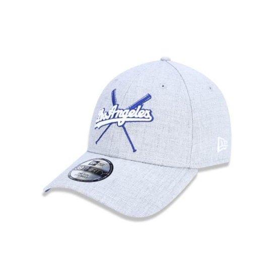 8a52b3df1126d Bone 3930 Los Angeles Dodgers MLB New Era - Cinza Claro - Compre ...