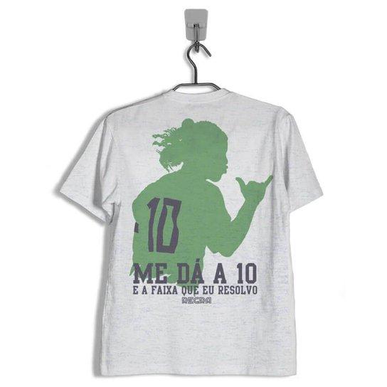 7ae5a0201f Camiseta 10 e a Faixa - Cinza Claro - Compre Agora