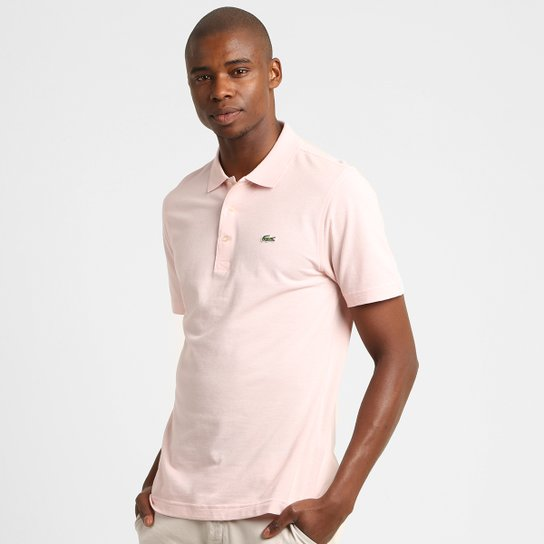 bd67aa8af648d Camisa Polo Lacoste Super Light Masculina - Rosa Claro - Compre ...