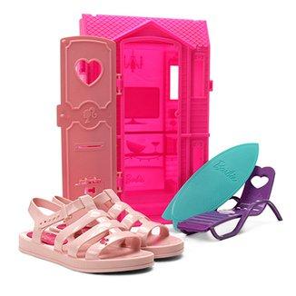 4a6fd9e3b2 Sandália Infantil Grendene Barbie + Brinquedo