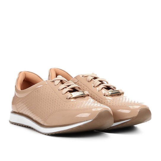 Tênis Jogging Via Uno Verniz Laser Cut Feminino - Rosa Claro ... e05403d6e5e93