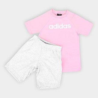 39d00a090f3 Conjunto Infantil Adidas Estampa Logo Lum Sum Set Bebê