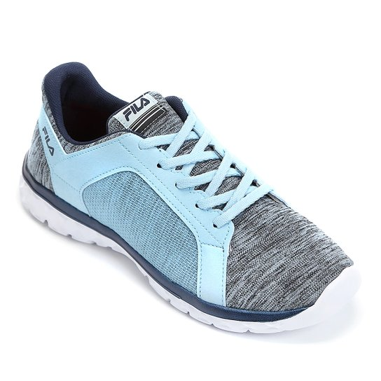 2ba6112e89e Tênis Fila Lightstep Comfort Feminino - Azul Claro e Branco - Compre ...