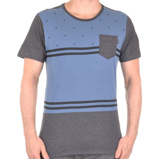 Camiseta Oakley Skull-O Sp Masculino - Chumbo e Azul - Compre Agora ... 3ea0d66f3ce