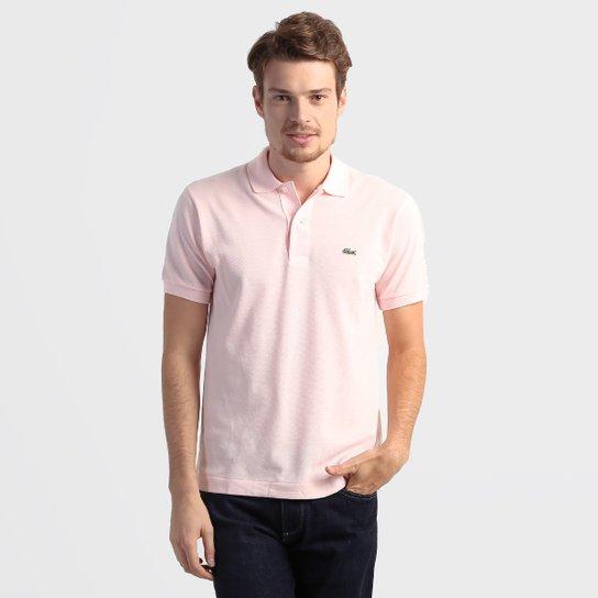 eaed8fb5ec36b Camisa Polo Lacoste Original Fit Masculina - Rosa Claro - Compre ...