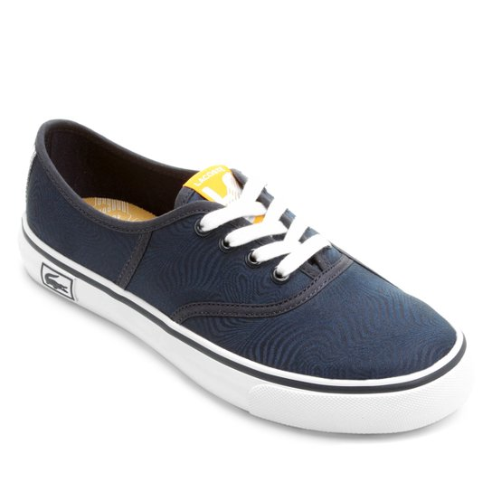 Tênis Lacoste Rene Vaultstar Pn - Azul e amarelo - Compre Agora ... 473e713e62
