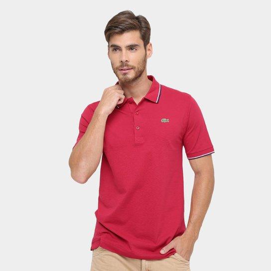 6355b45466cd0 Camisa Polo Lacoste Básica - Vermelho e Preto - Compre Agora
