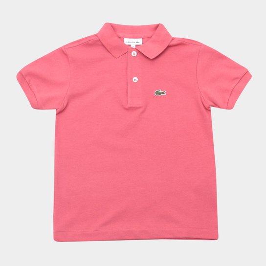 Camisa Polo Infantil Lacoste Masculina - Rosa Claro - Compre Agora ... 8aa9ee279e