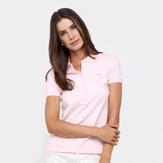 8fa05ecef9b0e Camisa Polo Lacoste Logo Feminina - Compre Agora