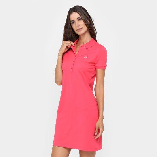 1dd5468db5e3e Vestido Lacoste Curto Polo Botões - Compre Agora
